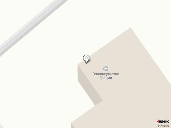 Генеральное консульство Греции в г. Новороссийске на карте Новороссийска