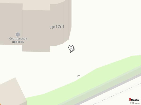 Храм Преподобного Сергия Радонежского на Рязанке на карте Москвы