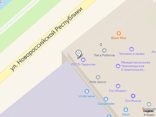 Новосиленд на карте Новороссийска