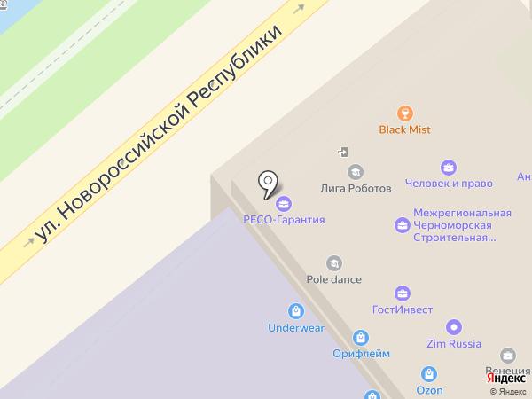 Арт-стекло на карте Новороссийска
