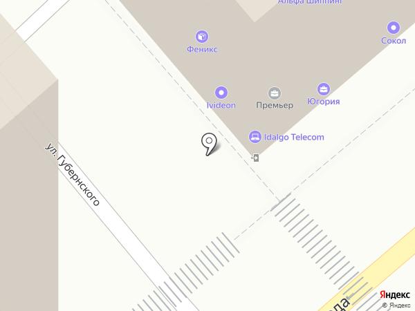 Феникс на карте Новороссийска