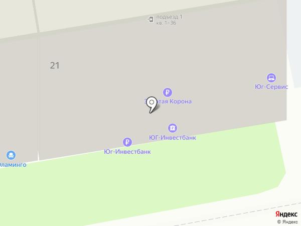 Банкомат, ЮГ-Инвестбанк на карте Новороссийска