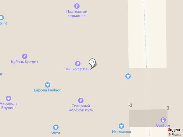 Афина на карте Новороссийска