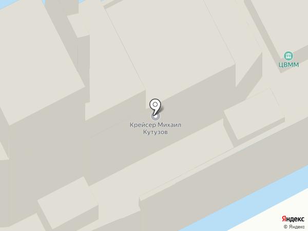 Крейсер Михаил Кутузов на карте Новороссийска