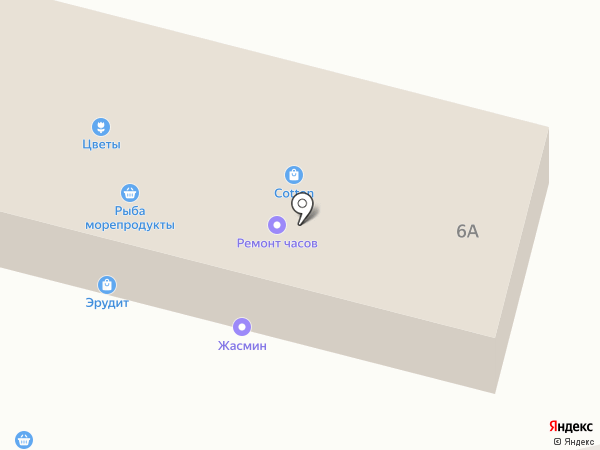Магазин морепродуктов на карте Новороссийска