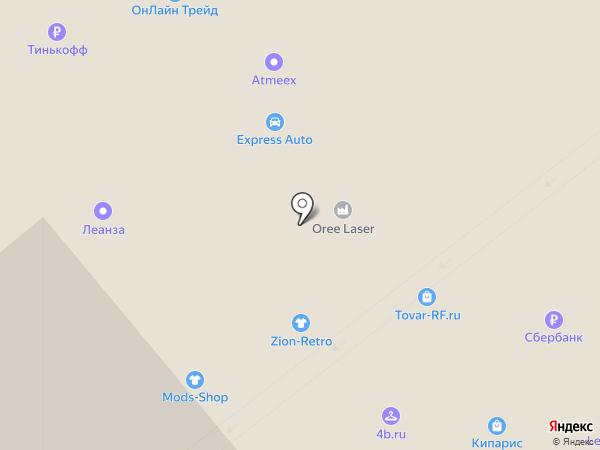 Бегемот на карте Москвы