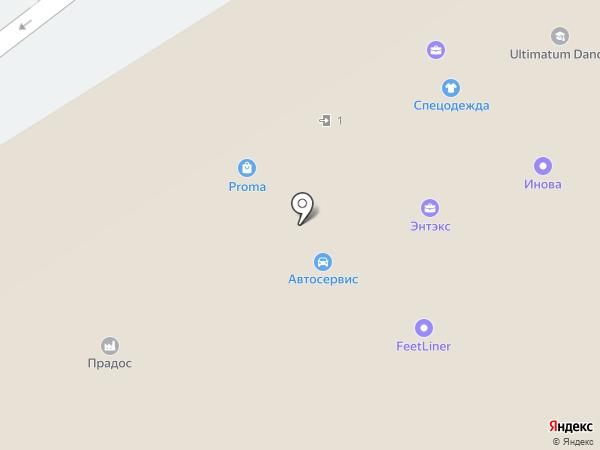 ТЕПЛОСЕРВИС на карте Москвы