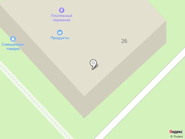 Магазин продуктов на карте Мытищ