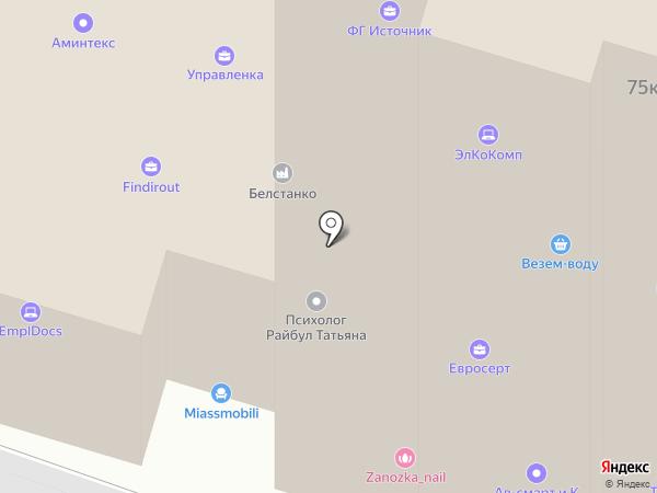 Фабрика заборов на карте Москвы
