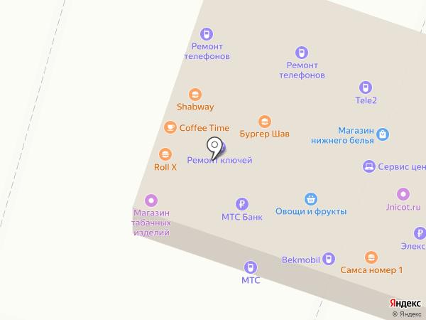 Табачный магазин на карте Москвы