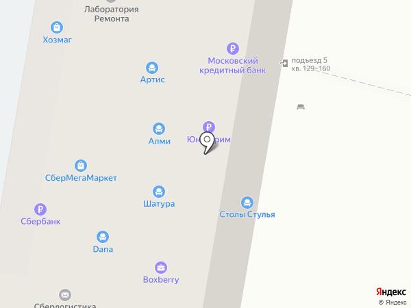 Сбербанк России на карте Москвы