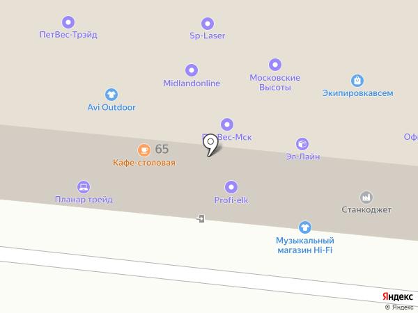 Ректор на карте Москвы