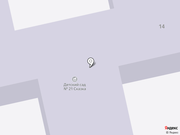 Детский сад №21 на карте Старого Оскола