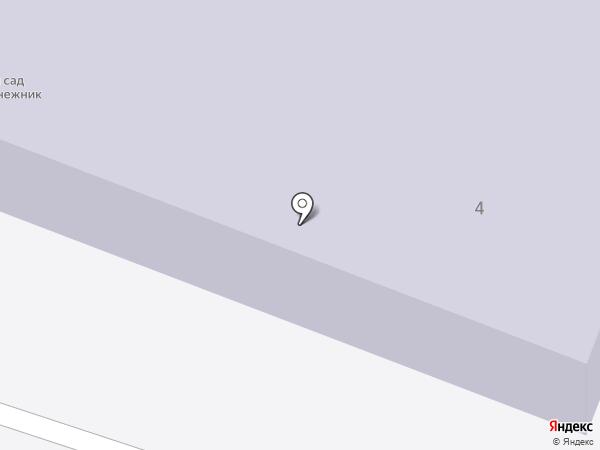 Детский сад №14, Подснежник на карте Челюскинского