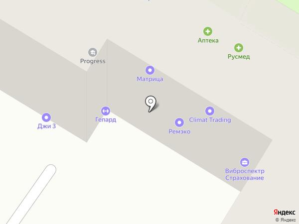 Гепард на карте Москвы