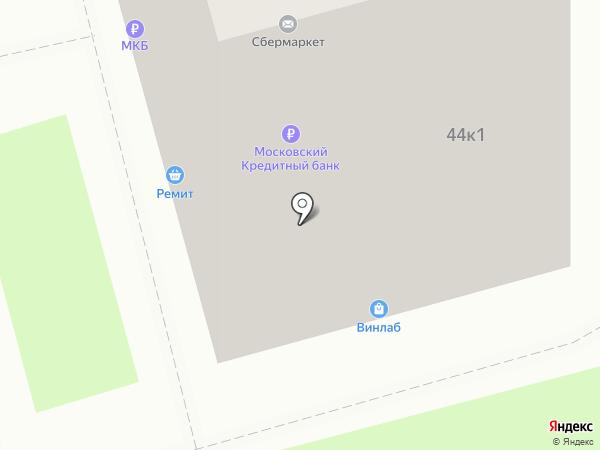 Салон оптики на карте Москвы
