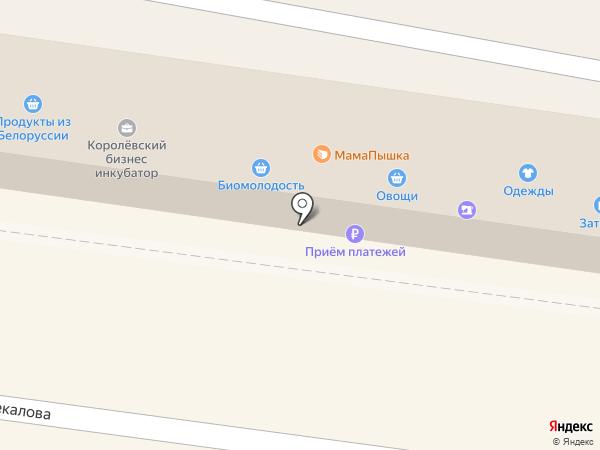 Магазин фруктов и овощей на карте Королёва