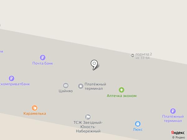 Почтовое отделение №18 на карте Старого Оскола