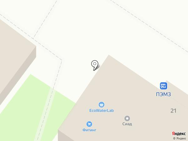 Киоск по продаже фруктов и овощей на карте Пушкино