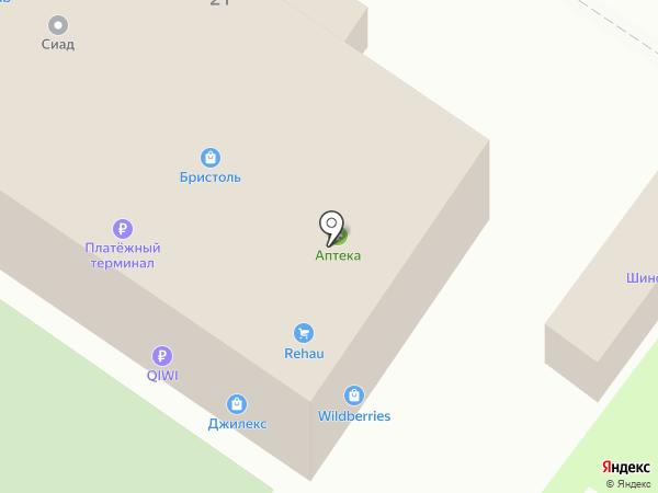 Березина на карте Пушкино