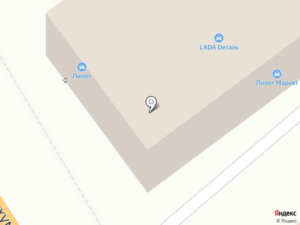 Пилот на карте Новороссийска