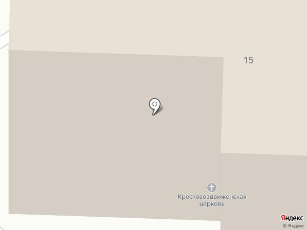 Крестовоздвиженский храм на карте Старого Оскола