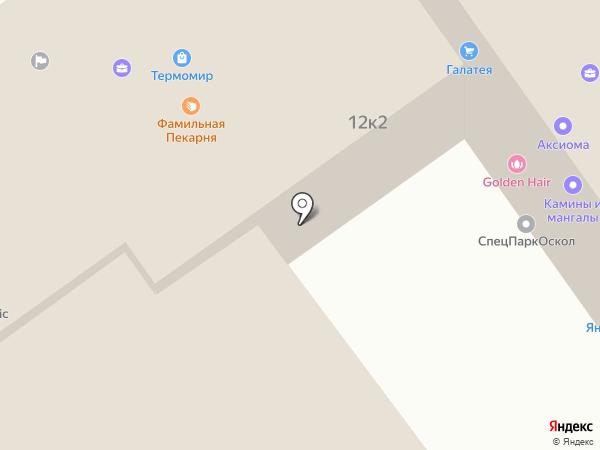 Дэнас-Центр на карте Старого Оскола