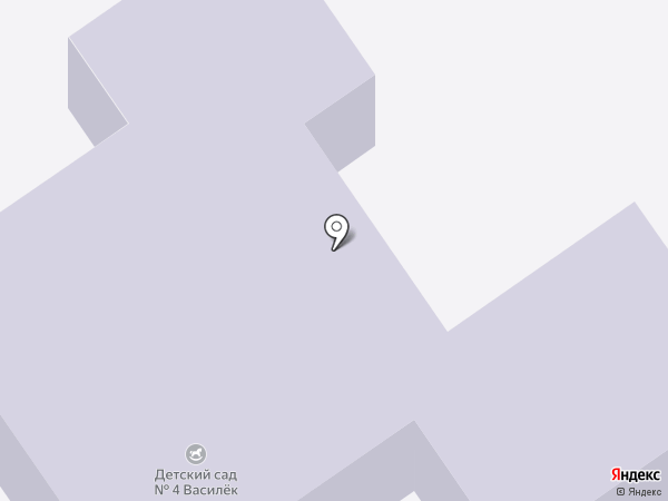 Детский сад №4 на карте Старого Оскола