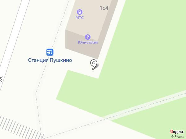 Магазин цветов на карте Пушкино