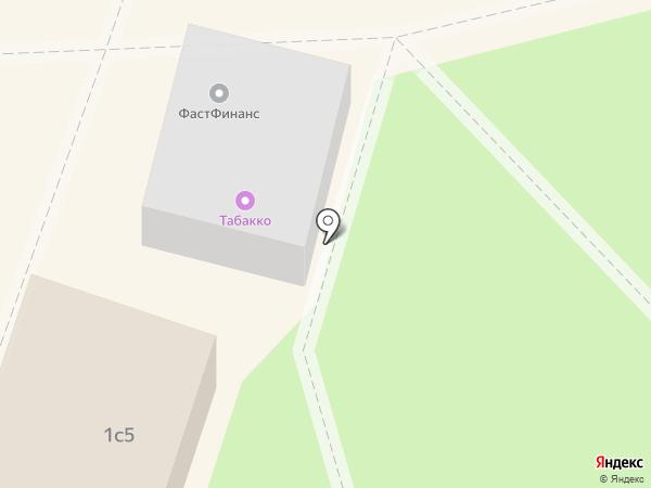 Дымок на карте Пушкино