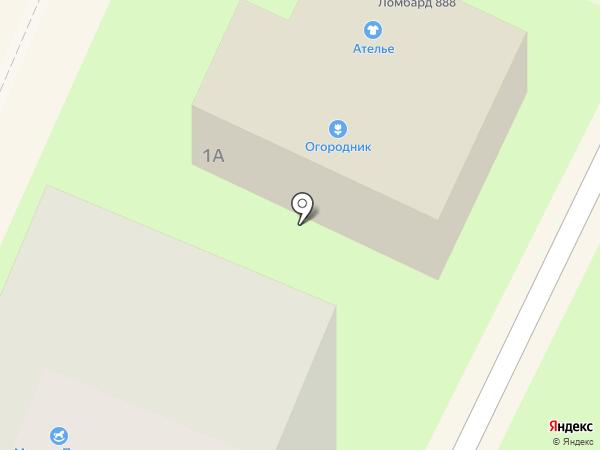 Огородник на карте Пушкино