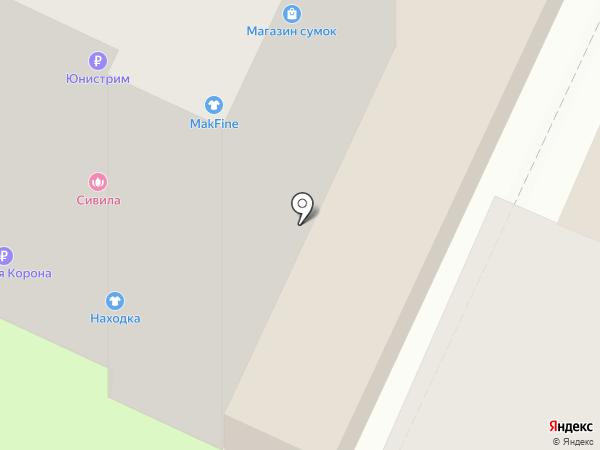 Находка на карте Пушкино
