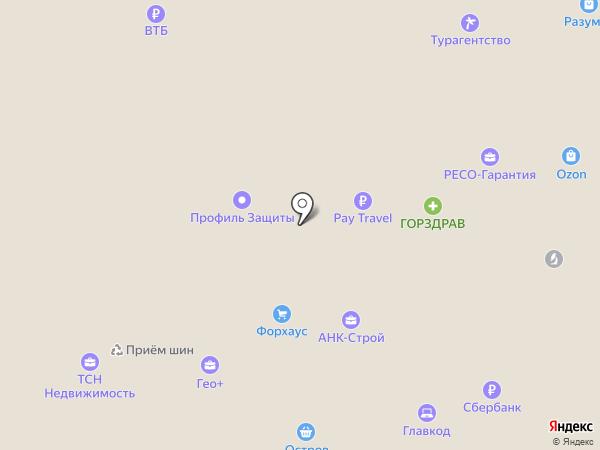 Градъ на карте Юбилейного