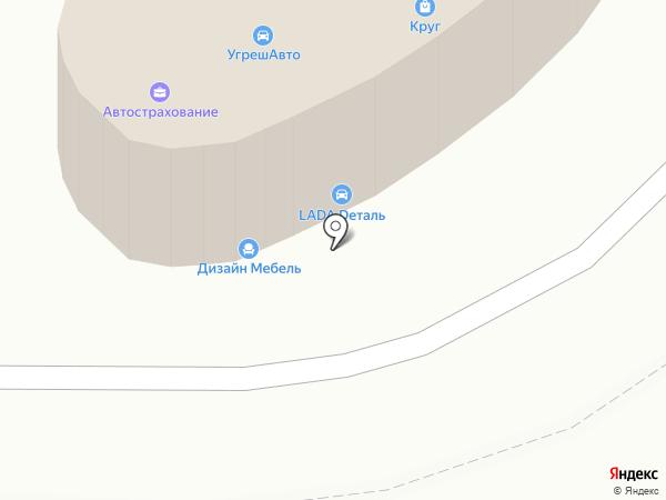 Круг на карте Дзержинского