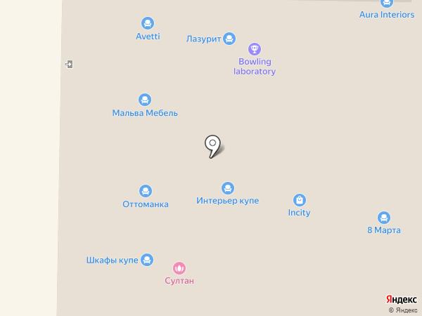 Оттоманка на карте Реутова