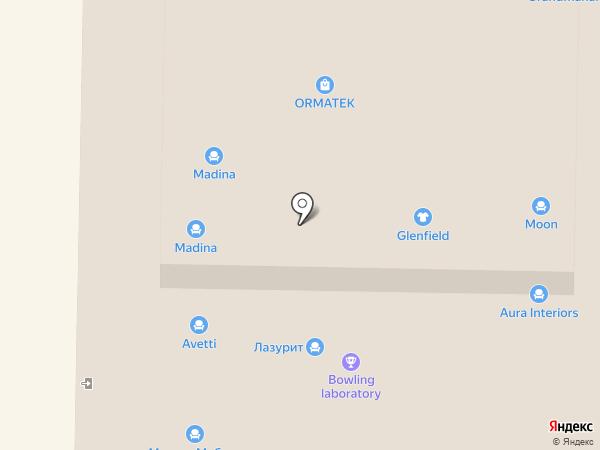 Галатея на карте Реутова