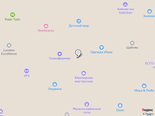 Дамское Счастье на карте Юбилейного