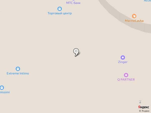 Клумба на карте Реутова