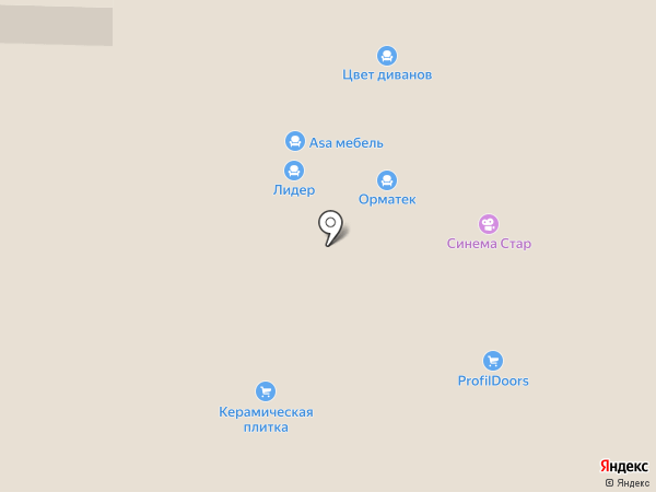 АСМ Мебель на карте Реутова