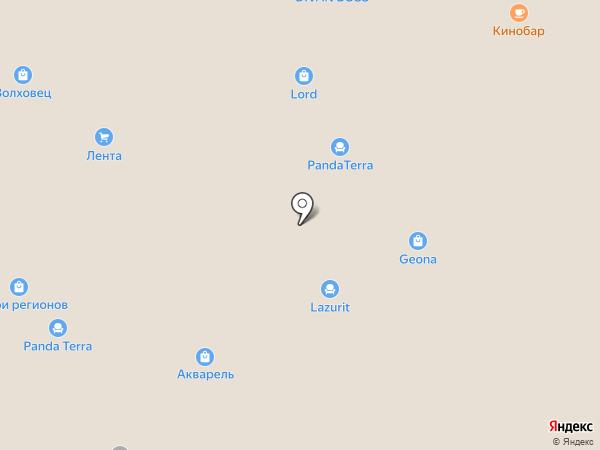 Эльбор на карте Реутова