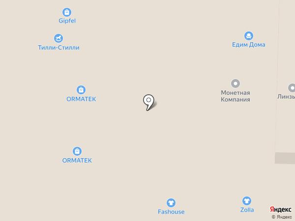 Фан диван на карте Реутова