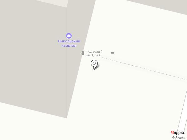 Никольский квартал на карте Дзержинского