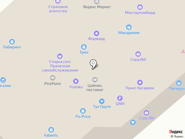Трио на карте Москвы