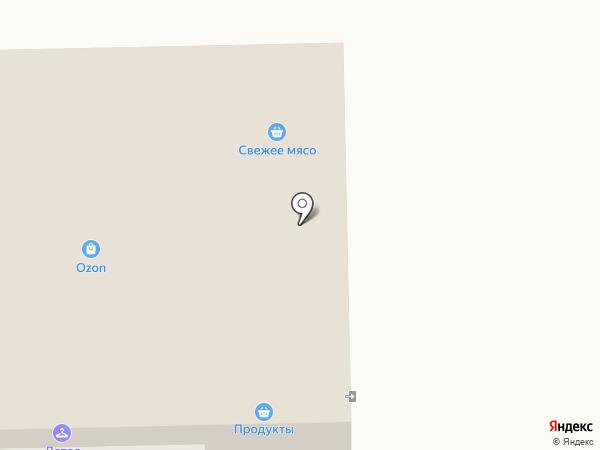 Магазин мясной продукции на карте Правдинского