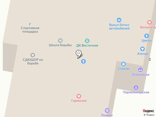 Прямые руки на карте Москвы