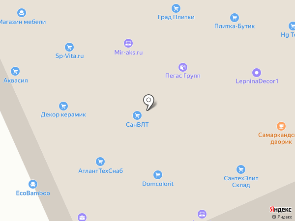 Магазин плитки на карте Реутова