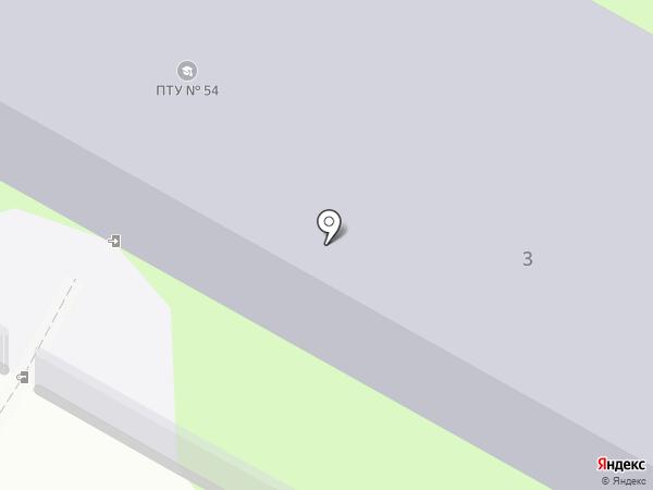 Профессиональное училище №54 на карте Пушкино