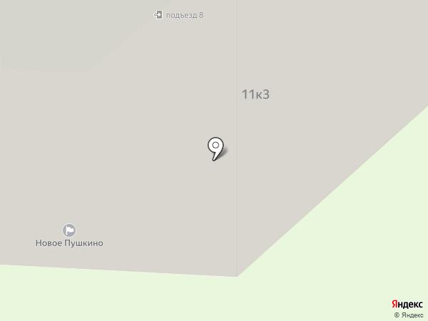Новое Пушкино на карте Пушкино