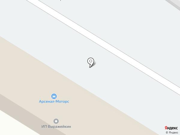 Арсенал-Моторс на карте Старого Оскола