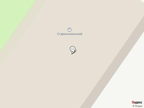 Старооскольский на карте Старого Оскола